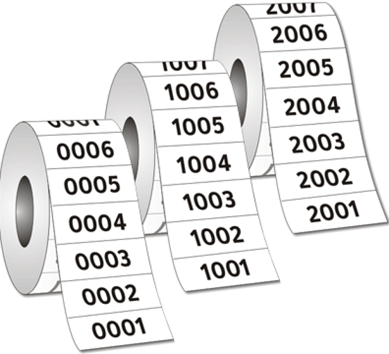 Picture of Sequential Numbering / Barcodes